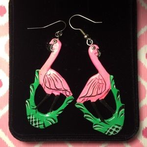 Jewelry - 🏝Vintage Flamingo Earrings🏝